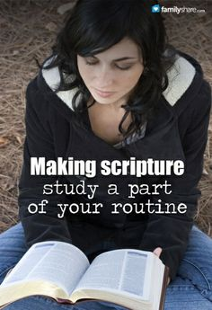 Squeeze in some time today to study the word of God. It's one thing you can do just for you and still have it bless your entire family. Somewhere betw...