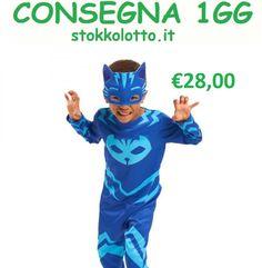 €28,00 - Gattoboy maschera costume carnevale taglia 7 8 9 10 anni bambino travestimento supereroi super piagiamini pj masks