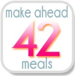 I am planning my next six weeks worth of meals  from this!  42 Make-Ahead Meals