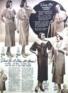 1938 Maternity dresses is the coat or wrap style
