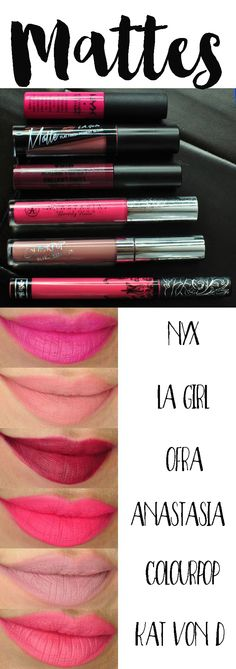 Matte Liquid Lipsticks Swatches and Comparisons - Painted Ladies