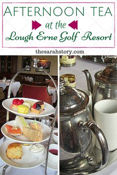 Afternoon tea at the Lough Erne Golf Resort in Co. Fermanagh, Northern Ireland