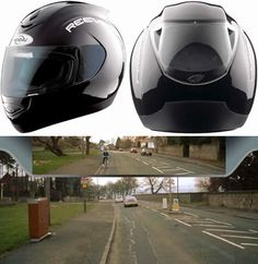 Helmets with rearview ... http://careofworld.blogspot.jp/2010/06/helmets-with-rearview.html