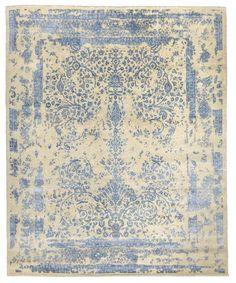 Handmade Modern Bamboo Silk Wool Rug X3059 Design 2101 Size 8