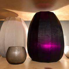 GUAXS Koonam M in smokegrey and amethyst and Quilotta Tealight in smokegrey. #bensshop #bensstore #munich #interiorshop #decoration #living #lifestyle #guaxs