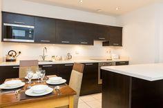 Beautiful contrast kitchens in Premier Apartments Manchester!  #manchester #kitchen #interior #decor