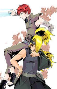 Sasori and Deidara Itachi Uchiha, Sasori And Deidara, Deidara Akatsuki, Naruto Shippuden, Boruto, Anime Naruto, Naruto Art, Manga Anime, Ninja