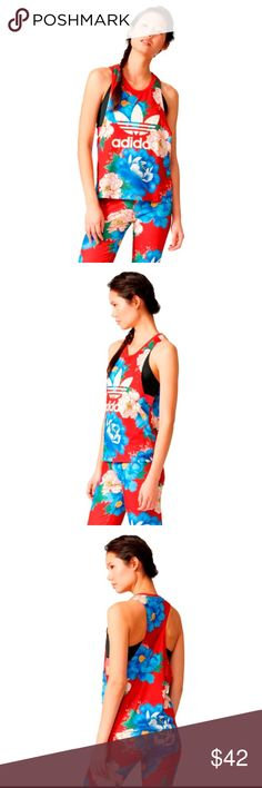 NWT: Adidas Multicolor Floral Tank Top New with tag colourfully created in collaboration with Brazilian label The FARM Company,  this Chita tank top from adidas is abloom with a print inspired by nature, Asian art and island time. adidas Tops Tank Tops