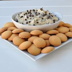 Chocolate chip cookie dough dip