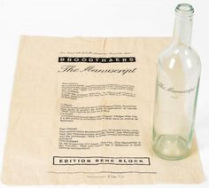 Marcel Broodthaers - The Manuscript found in a bottle - 1974