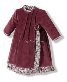 Vestido de pana fina con manga francesa