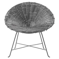 Columbia Rattan Chair in Grey