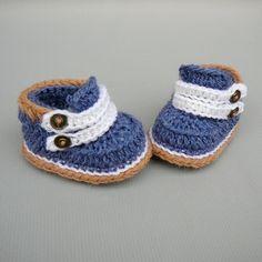 Trzewiki buciki szydełkowe 0-3 miesiące (proj. babol), do kupienia w DecoBazaar.com