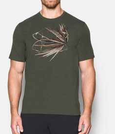 Men's UA Fly Logo T-Shirt, DOWNTOWN GREEN, zoomed image