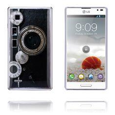 Retro Camera (Sort) LG Optimus L9 Deksel