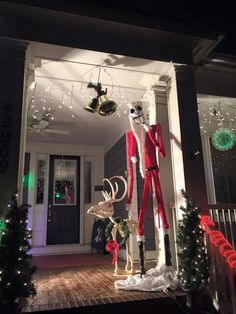 nightmare before christmas reindeermade from foam by halloween forum member cbcurtis - Night Before Christmas Decorations
