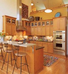 The Perfect Place for Cooks from Kansas-based Custom Wood Products #kitchen @KitchenBathChan