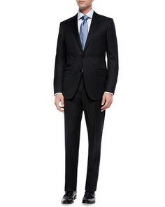 Solid Two-Piece Suit, Black by Ermenegildo Zegna at Neiman Marcus.