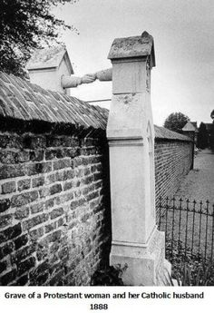 Grave of Protestant woman and her Catholic husband