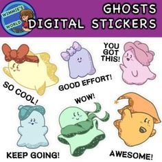 Digital Stickers will help you add your own personal touch with distance learning! Place these ghosts digital stickers on any distance learning project and for grading assignments! These ghosts digital stickers are a fun way to encourage your students through distance learning!
