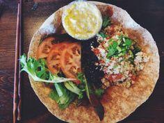 tex-mex wrap from peace cafe - honolulu, oahu