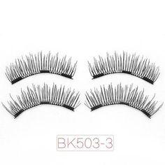 1f044192efe Genailish Magnetic eyelashes 3D false eyelashes with 3 magnets Handmade  cilios wholesale Eye Lash Extension-