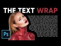 How to Wrap Text Around Image Like Magazines in Photoshop - YouTube