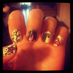 Tattoo nails. Thanks Nicole for showing me these!
