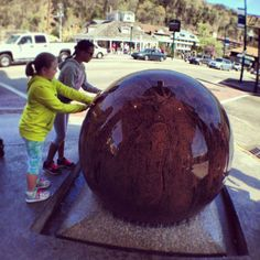 The big ball out front of Ripley's Believe It or Not #attraction in #Gatlinburg, #Tennessee
