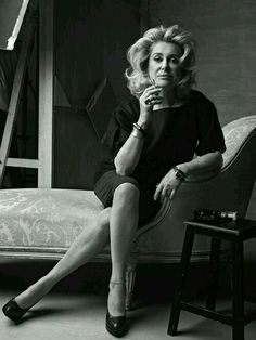 Catherine Deneuve (born 22 October is a French actress. Catherine Deneuve, Christian Vadim, Gq, Annie Leibovitz, Women Smoking, Le Smoking, Two Faces, Celebrity Portraits, French Actress