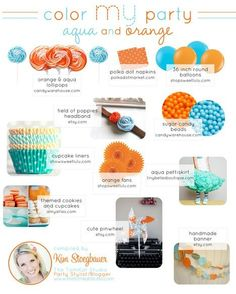 On the quest for inspiration for my orange and aqua beach #baby shower baby-beach-shower