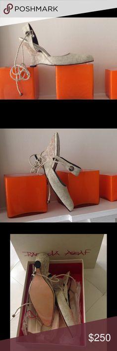 Shoe Interesting design on this wage shoes, designer Raouda Assaf Raouda Assaf Shoes Wedges