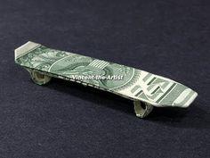 Money Origami Skateboard - Dollar Bill Art