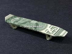 Money Origami Skateboard - Dollar Bill Art