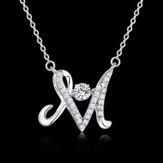 Sterling Silver Costume Alphabet Letter M Dancing Natural Topaz Necklace Pendent | Jewelry & Watches, Fine Jewelry, Fine Necklaces & Pendants | eBay!