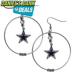 NFL Dallas Cowboys Hoop Earrings, 2-Inch