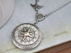Foto medaillon kompas