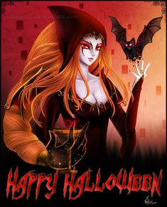 Happy Halloween everyone! Yep, Una is already with her vampiress/witch. something costume xD And as you can see (and info for my newest watchers) the . Halloween Ii, Halloween Pumpkins, Happy Halloween, Halloween Costumes, Halloween Witches, Witch Pictures, Beautiful Witch, Witch Art, Classic Comics