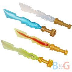 Lego Ninjago Ninja 4 Minifig ELEMENTAL BLADES Minifigure Sword Weapons 70505 NEW #LEGO