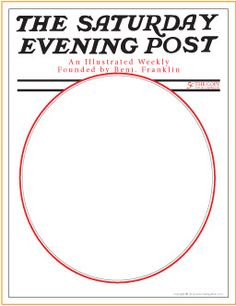 Design a Saturday Evening Post Magazine Cover | Norman Rockwell Art Projects for Kids - MakingArtFun.com