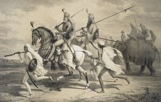; by A. Soltykoff Sikh Chieftans going Hunting