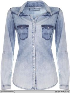 Find the latest womens fashion and new season trends at TALLY WEiJL. Denim Button Up, Button Up Shirts, Acid Wash Shirt, Tally Weijl, Online Checks, Chambray, Shop Now, Clothes For Women, My Style