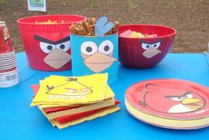 angry bird birthday party ideas   kind of went crazy and stuck these cute faces here: