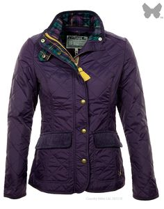 Joules Ladies' Moredale Quilt Jacket - Purple - at Country Attire