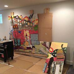 So excited to see new goodies popping up in @adoogordon studio! #tribetuesdays  #art #streetart #artgallery #artist #vscocam #denver #milehigh #color #community #illustration #starvingartist #exploreeverything #2016 #painting #fall #screenprint #screenprinting #followme #Rino #denverartist #5280 #denverart #contemporaryart #odessadenver #odessatribe