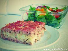 Zapečené mleté maso s květákem ~ PALEO DIETA: Recepty pro dlouhý a spokojený život bez omezování