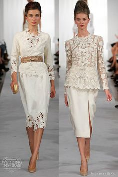 oscar de la renta spring summer 2013 crochet suits