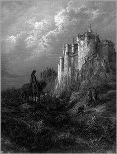 Gustave Doré for The Idylls of the King, a set of twelve poems by the English poet Alfred, Lord Tennyson.