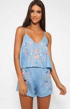 Selina Shorts - Blue Floral