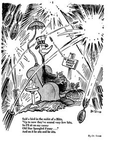 "a satirical interview with doctor seuss Dr seuss art art  children fine art gallery children's books interview fine art kid art  from his 1935 satirical series ""the  doctor seuss art by a."